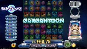 Reactoonz (Play'n GO) Gargantoon